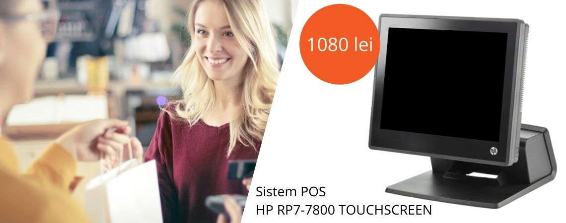Sistem POS HP RP7-7800 TOUCHSCREEN I3 2120 / 4GB / HDD320 / 15