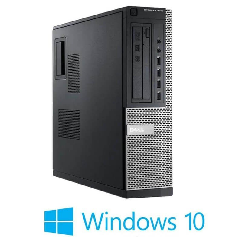 Calculatoare Refurbished Dell OptiPlex 7010 DT, Quad Core i7-3770s, Win 10 Home