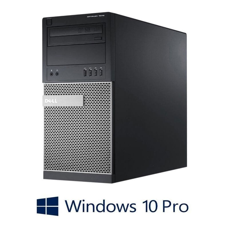 Calculatoare Refurbished Dell OptiPlex 7010 MT, Quad Core i5-3470, Win 10 Pro