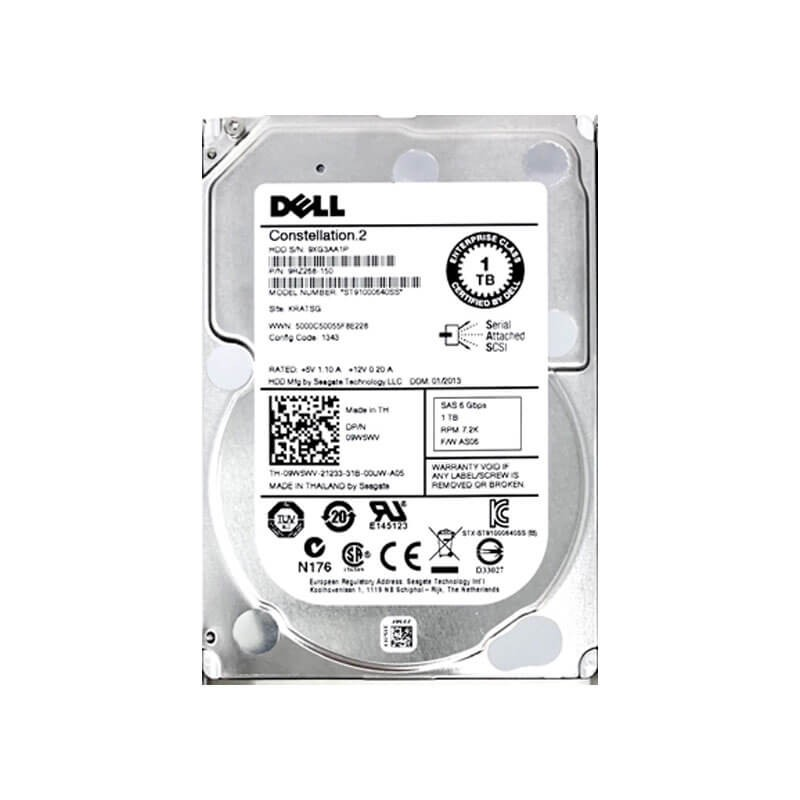 Hard Disk Dell 9W5WV 1TB SAS 6Gbps 2.5 inch, 7.2K RPM, 64 Mb Cache