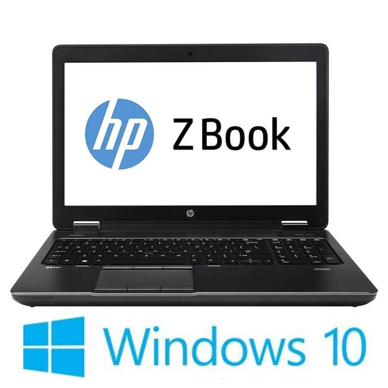 Laptop Refurbished HP Zbook 15 G4, i7-7820HQ, 32GB, Quadro M2200, Win 10 Home