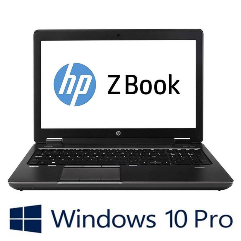 Laptop Refurbished HP Zbook 15 G4, i7-7820HQ, 32GB, Quadro M2200, Win 10 Pro