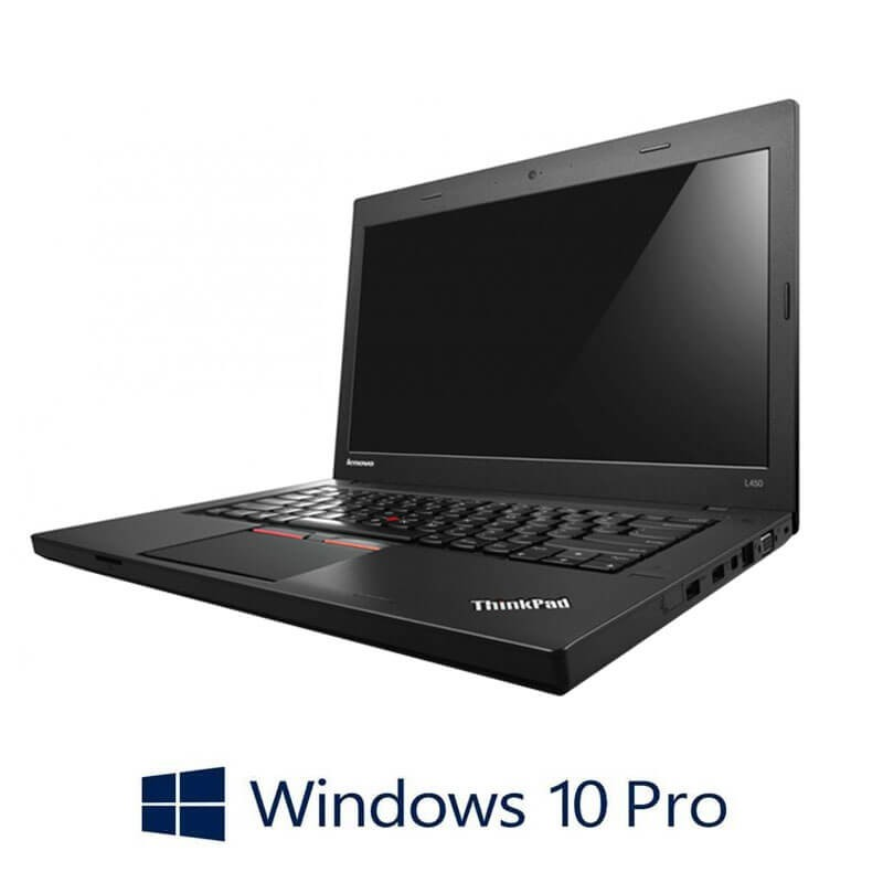 Laptopuri Refurbished Lenovo ThinkPad L450, Intel i3-5005U, Webcam, Win 10 Pro