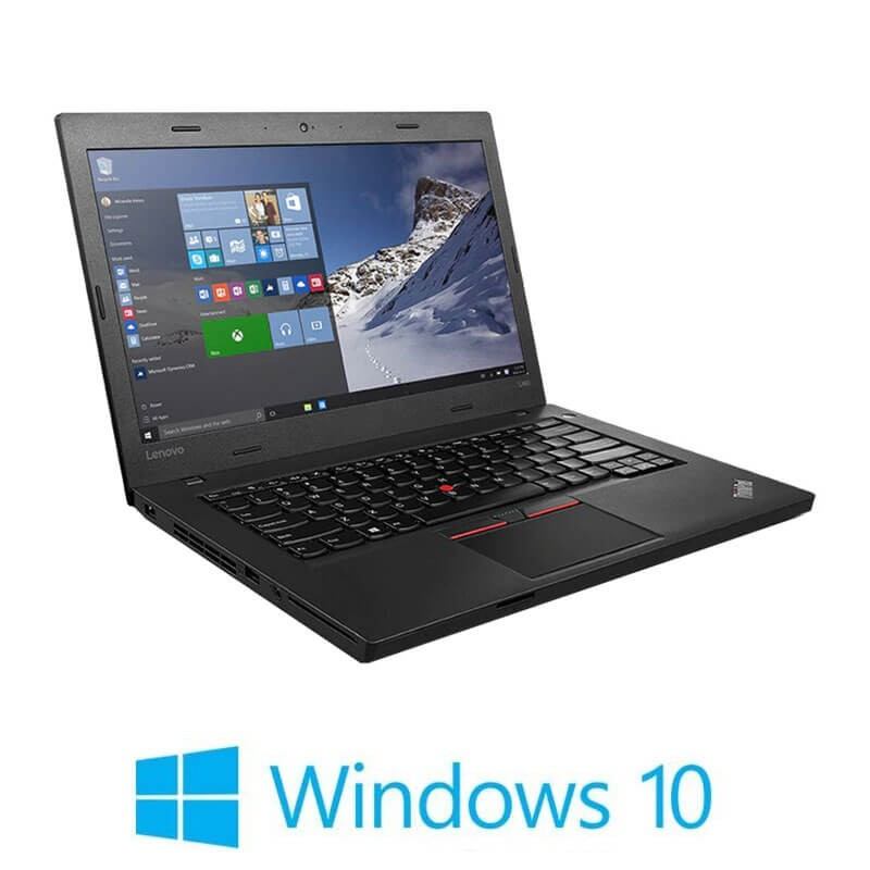 Laptopuri Refurbished Lenovo ThinkPad L460, 4405U, Webcam, SSHD, Win 10 Home