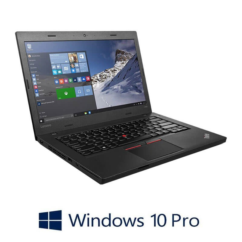 Laptopuri Refurbished Lenovo ThinkPad L460, 4405U, Webcam, SSHD, Win 10 Pro