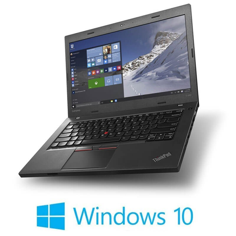 Laptopuri Refurbished Lenovo ThinkPad L460, Intel 4405U, Webcam, Win 10 Home