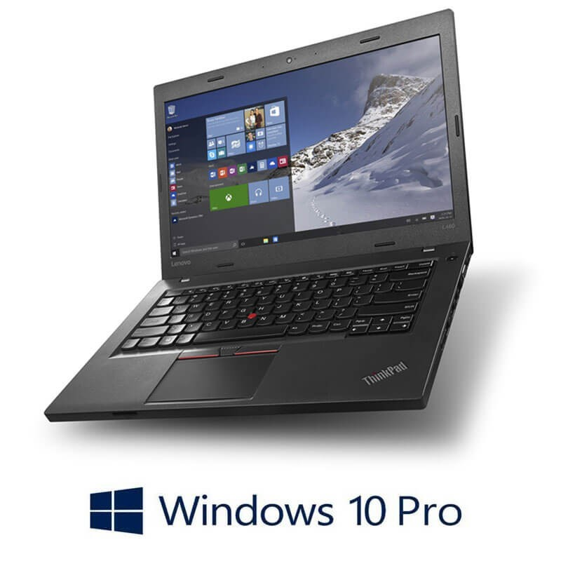 Laptopuri Refurbished Lenovo ThinkPad L460, Intel 4405U, Webcam, Win 10 Pro