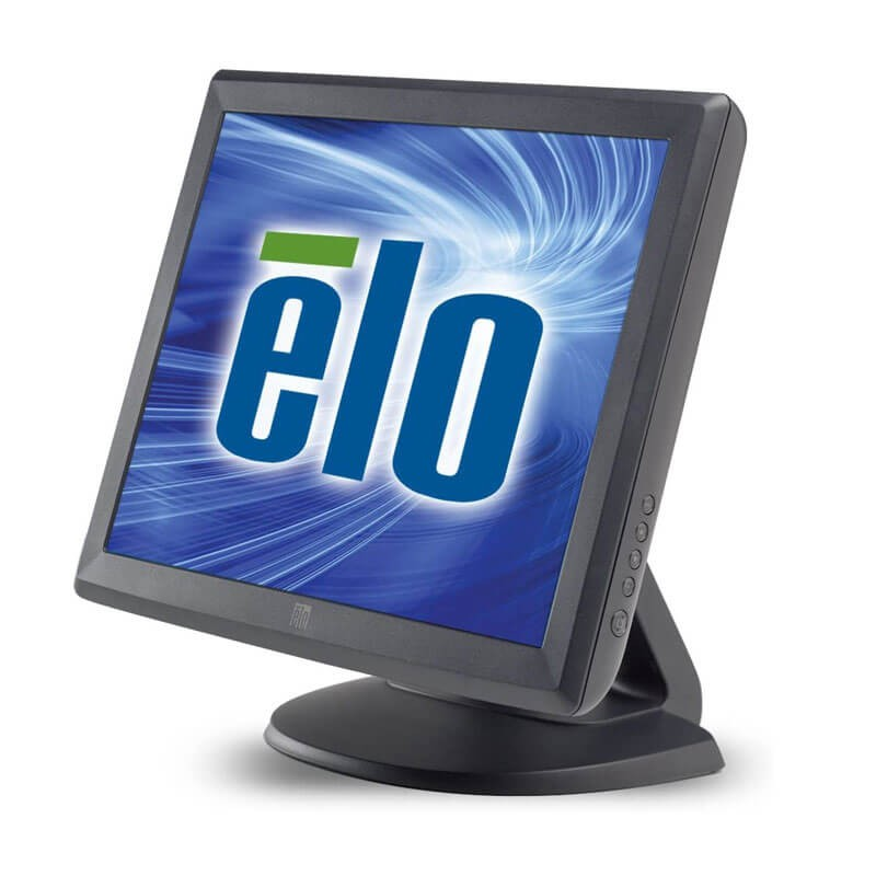 Monitor Touchscreen Refurbished Elo 1515L Negru, USB, Serial, Stand Original