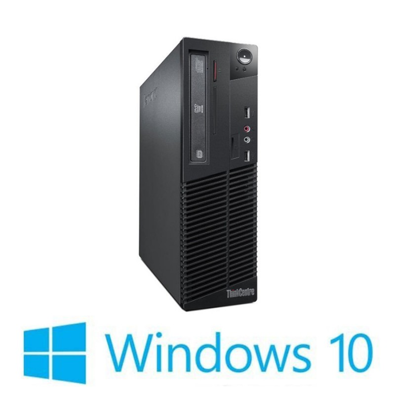 PC Refurbished Lenovo ThinkCentre M73 SFF, I5-4590, Win 10 Home