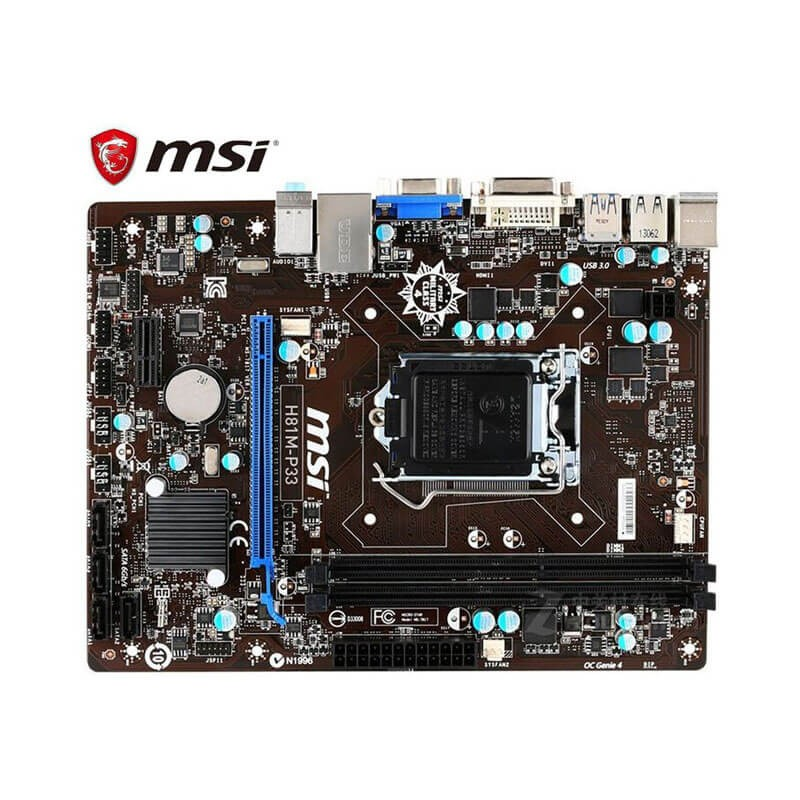 Placa de baza Refurbished MSI H81M-P33, Socket 1150