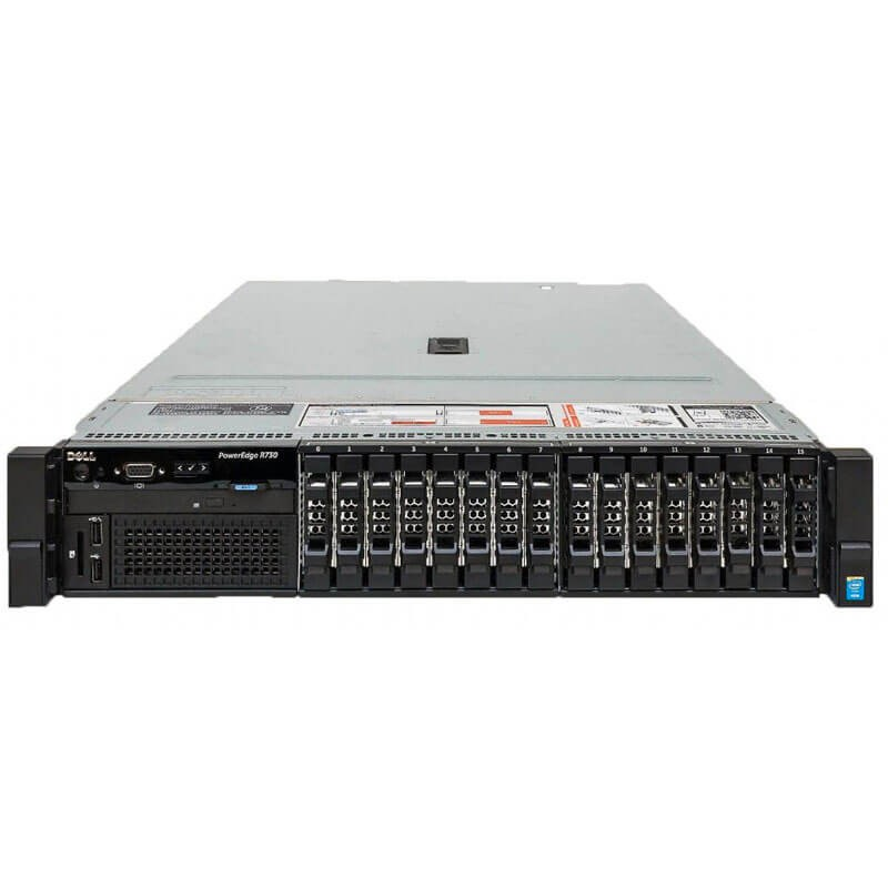 Server Refurbished Dell PowerEdge R730, 2 x E5-2640 v3 Octa Core, 64GB DDR4, 4 x 600GB SSD