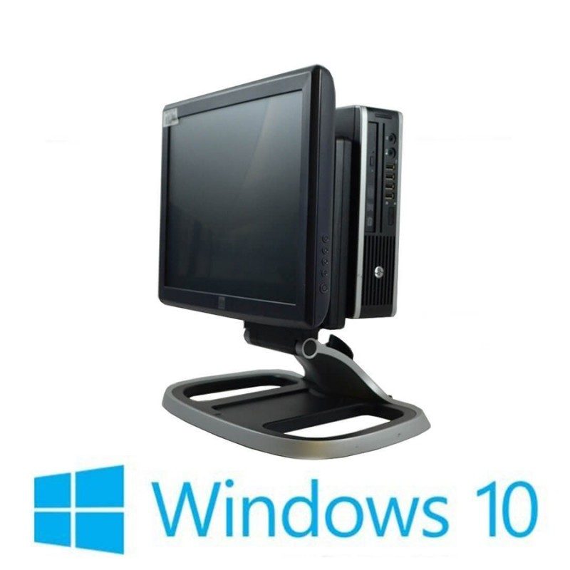 Sistem POS Refurbished HP Compaq 8200 Elite USFF, i3-2100, Elo 1515L, Win 10 Home