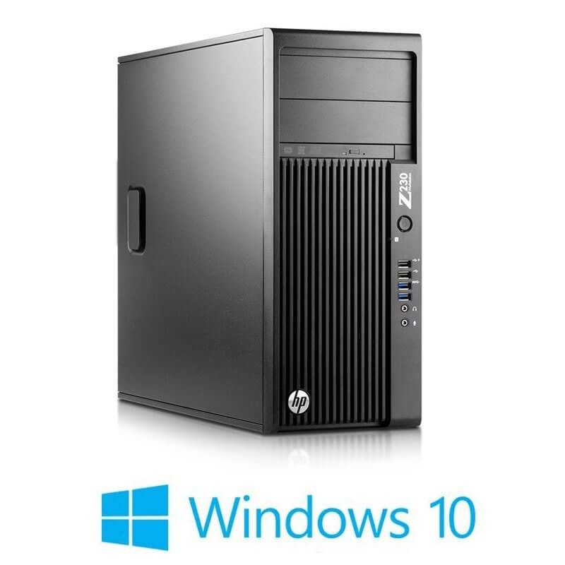Workstation HP Z230 Tower, Quad Core i7-4770, Win 10 Home