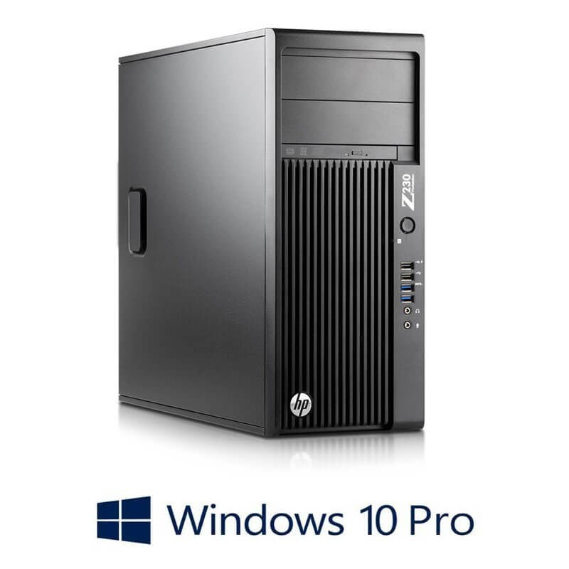 Workstation HP Z230 Tower, Quad Core i7-4770, Win 10 Pro