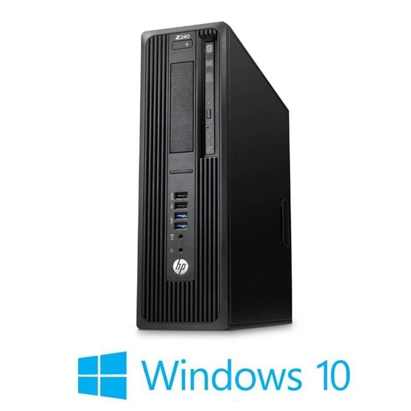 Workstation Refurbished HP Z240 SFF, Xeon E3-1230 v5, 16GB DDR4, Win 10 Home