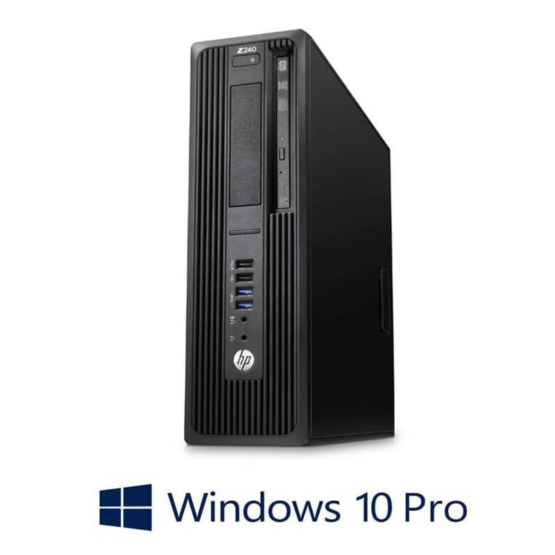 Workstation Refurbished HP Z240 SFF, Xeon E3-1230 v5, 16GB DDR4, Win 10 Pro