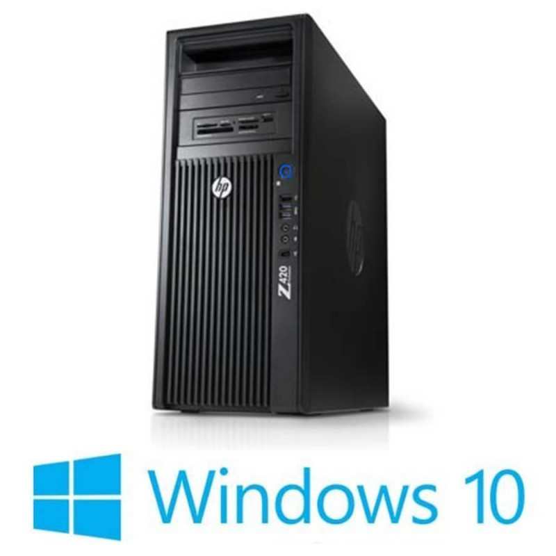 Workstation Refurbished HP Z420, Xeon E5-1650, 16GB, Win 10 Home