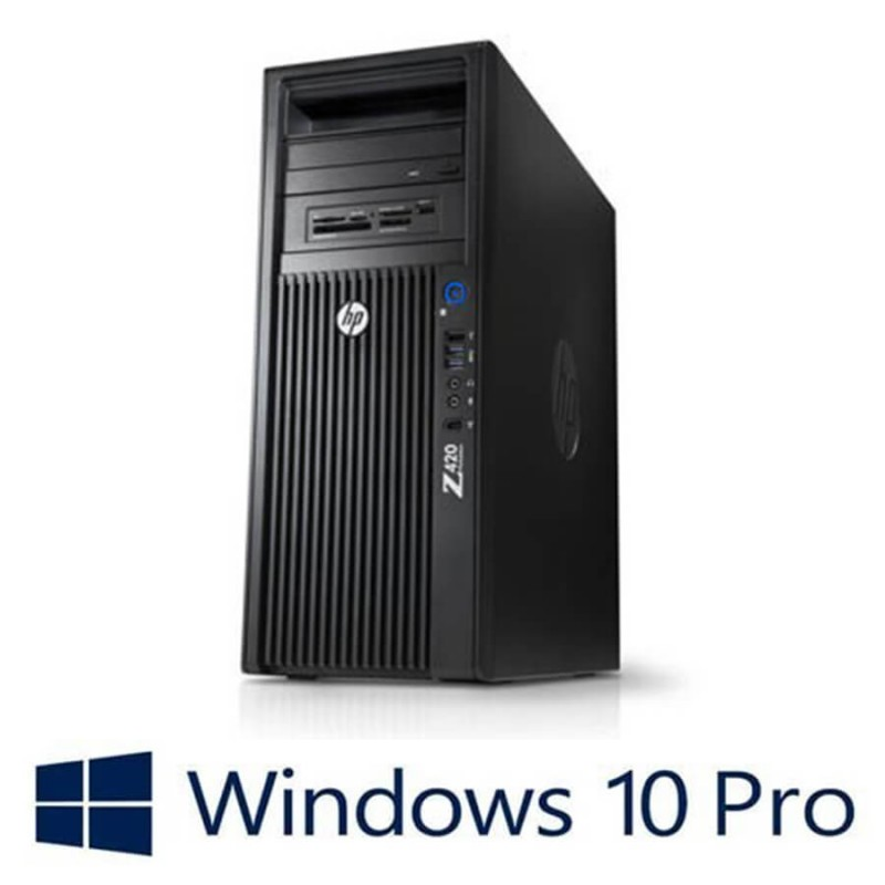Workstation Refurbished HP Z420, Xeon Hexa Core E5-2620, Win 10 Pro